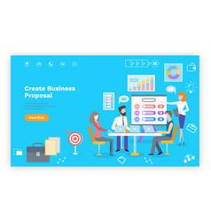 Create business proposal teamwork website vector
