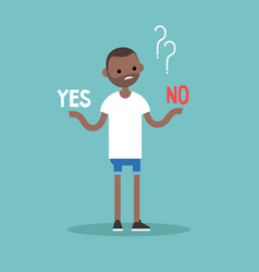 Difficult decision yes or no conceptual young vector