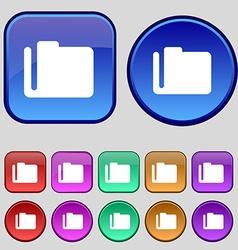 Document folder icon sign A set of twelve vintage vector