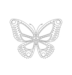 Easily editable abstract butterfly vector
