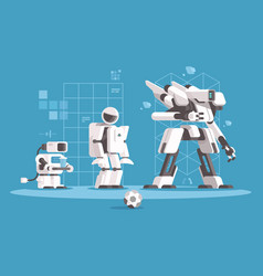 evolution of robotics vector image