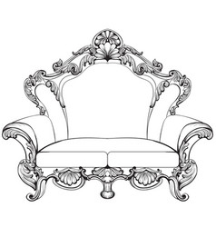 exquisite fabulous imperial baroque armchair vector image