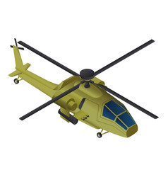 fight helicopter icon isometric style vector image