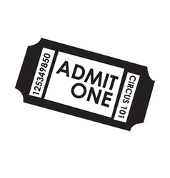 Film ticket vector image