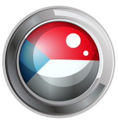 flag of czech republic on round frame vector image