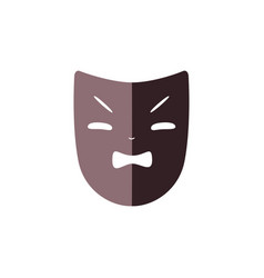 Flat theater mask icon vector