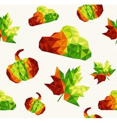 Geometric fall elements seamless pattern vector image
