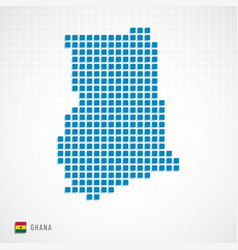 ghana map and flag icon vector image