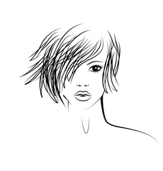 Girl with a fashionable hairstyle fashion vector