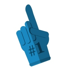 Glove of number one design vector image