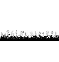 grass frame white background vector image