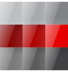 Gray and red shiny squares abstract background vector image