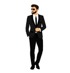 Groom gentleman businessman clothing vector
