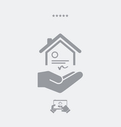 House certification services - minimal icon vector