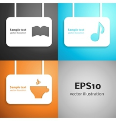Leisure paper applique background set vector image