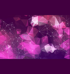 lights purple triangle or mosaic for background vector image