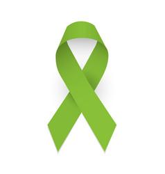 Lime awareness ribbon lymphoma awareness symbol vector