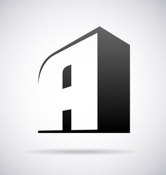 Logo for letter A vector image