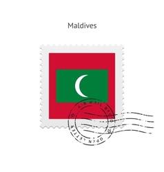 Maldives Flag Postage Stamp vector