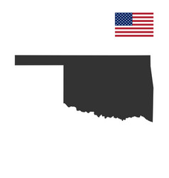 Map us state oklahoma vector
