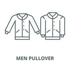 men pullover line icon linear concept vector image