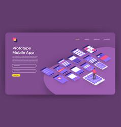 Mock-up design website flat design concept vector