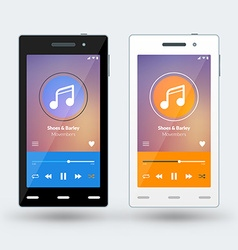 Modern smartphone with musical player on the vector image