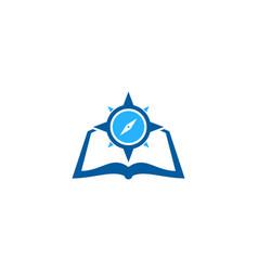 Navigation book logo icon design vector