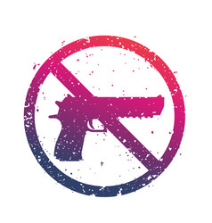 No guns sign with powerful pistol no firearms vector