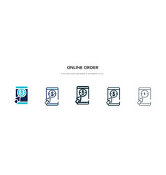 online order icon in different style two colored vector image