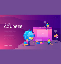 online training courses retraining vector image
