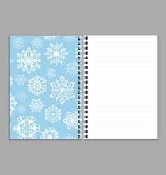 Open notebook realistic copybook or sketchbook vector