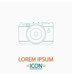 Photo camera computer symbol vector