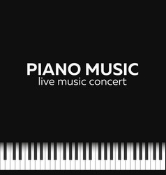 piano concert poster design live music concert vector image