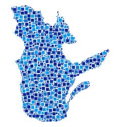 Quebec province map composition of pixels vector