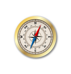 Realistic compass isolated on white background vector