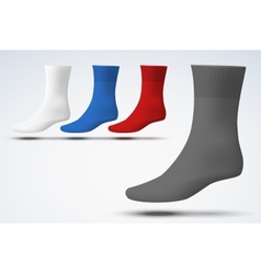 Realistic layout of socks A simple example vector image