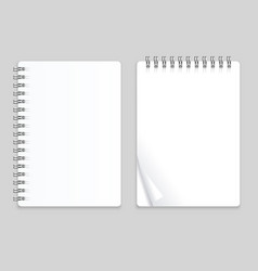 realistic note template blank set vector image