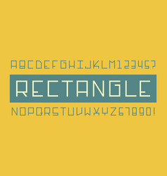 rectangle font alphabet vector image
