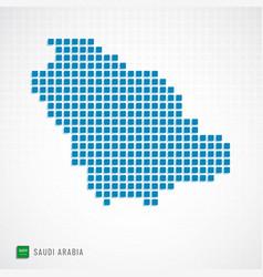saudi arabia map and flag icon vector image