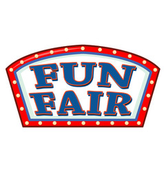 Sign template at fun fair vector