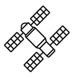 Space station solar panel icon outline style vector
