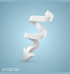 spiral arrow vector image