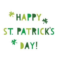 st patricks day greeting card vector image