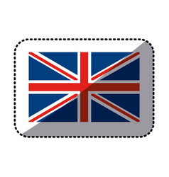 sticker flag united kingdom classic british icon vector image