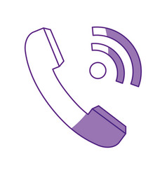 Telephone isolated symbol vector