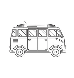 Travel Omnibus Thin Line Icon vector image