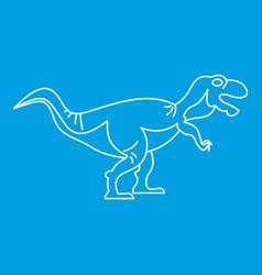 Tyrannosaur icon outline style vector