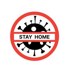 Virus epidemic stop sign symbol vector