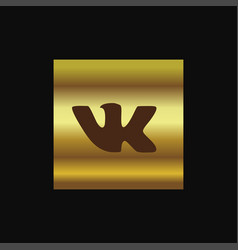 Vk icon design vector